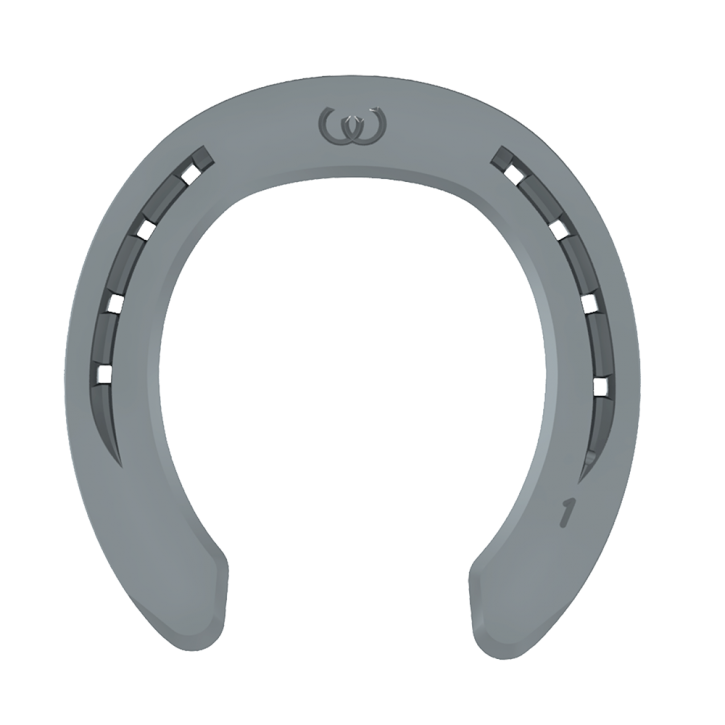 Warrior Vordereisen mit Seitenkappen 8 mm (1. - 2. Nagelloch)